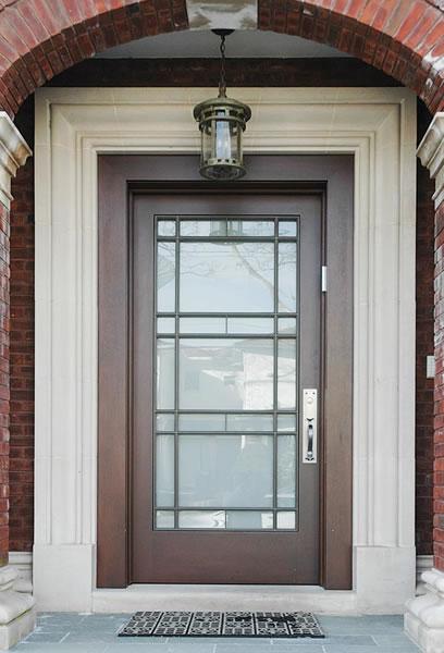 Full View Exterior Door Custom Built Wood French Doors